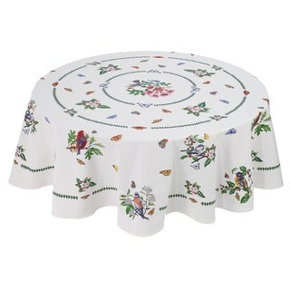 "Botanic Birds 70"" Rnd Table Cloth"