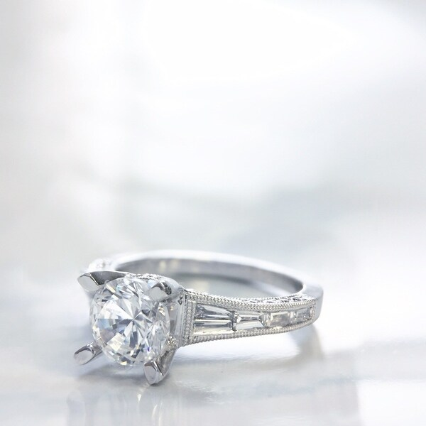 251aea770b1962 Shop Lihara and Co. 18k White Gold 1/2 ct TDW Semi-Mount Engagement ...