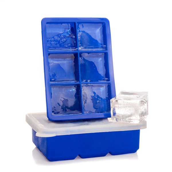 Epare Large Ice Cube Trays w/ Silicone Lids, 2 Stackable Covered Molds