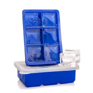 Eparé Large Ice Cube Tray with Silicone Lids  Stackable Covered Trays Set