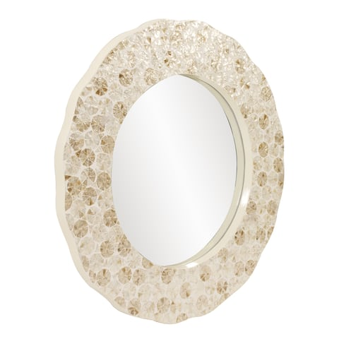 Allan Andrews Antigua Round Shell Wall Mirror