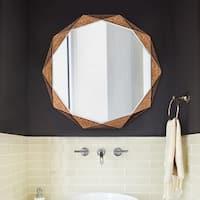 Howard Elliott Collection Allan Andrews Aurelia Antique Copper Round Mirror