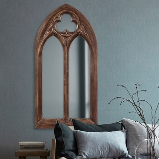 Allan Andrews Basilica Arched Wall Mirror - Dark brown