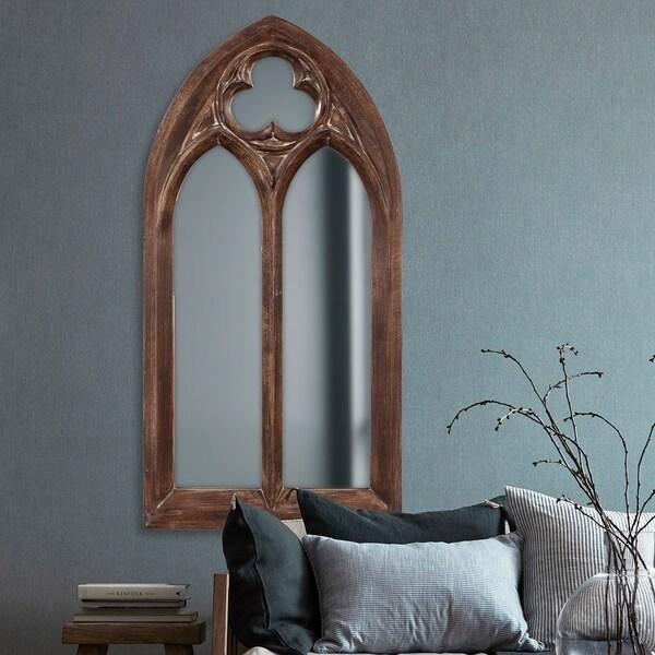 Allan Andrews Basilica Arched Wall Mirror - Dark brown