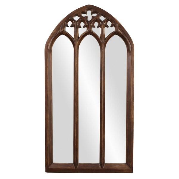 Allan Andrews Basilica Tall Arched Mirror - Dark brown - A/N