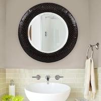 Allan Andrews Bergman Black Round Mirror