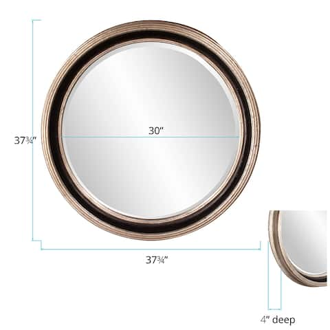 Allan Andrews Cole Champagne Resin Round Wall Mirror