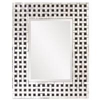 Howard Elliot Collection Allan Andrews Colton Glass/Wood  Modern Mirror