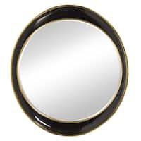 Howard Elliott Collection Allan Andrews Black and Gold Ellipse Mirror