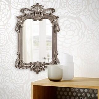 Allan Andrews Eva Antique Silver Mirror