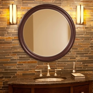 Allan Andrews George Brown Round Wall Mirror