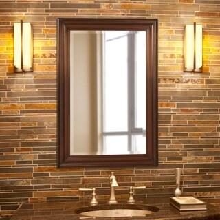 Allan Andrews George Rectangular Brown Mirror