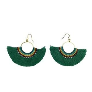 Handmade Tassel Fan Earrings (Thailand)