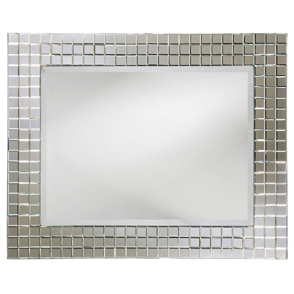 Howard Elliott Collection Allan Andrews Michael Clear Glass Mosaic Mirror