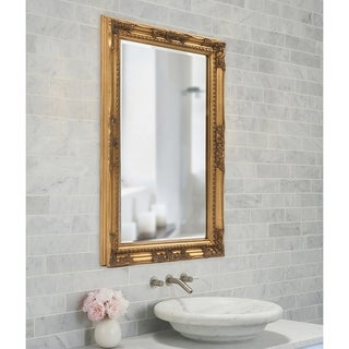 Allan Andrews Queen Ann Rectangular Gold Wall Mirror