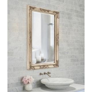 Allan Andrews Queen Ann Rectangular Silver Wall Mirror