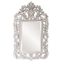 Howard Elliot Collection Allan Andrews Regina Clear Glass and Wood Venetian Mirror