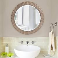 Allan Andrews Serenity Silver Leaf Mirror
