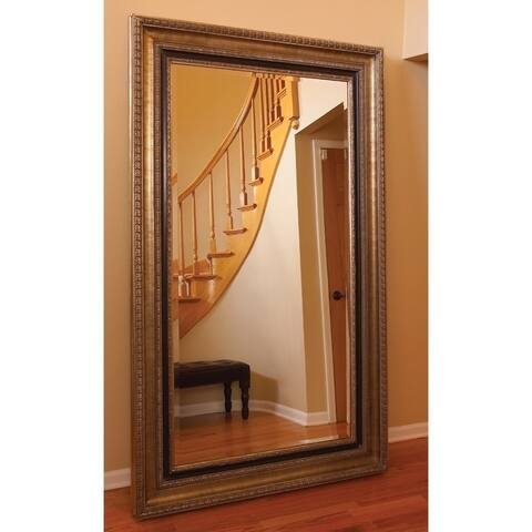 Allan Andrews Texan Silvertone Wood Leaner Mirror - N/A