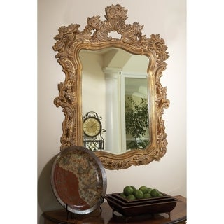 Allan Andrews Turner Antique Gold Resin Wall Mirror - A/N