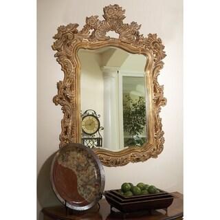 Shop Cortland Antique Gold Leaf Wall Mirror Free