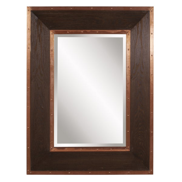 Allan Andrews Zane Walnut Rectangular Mirror