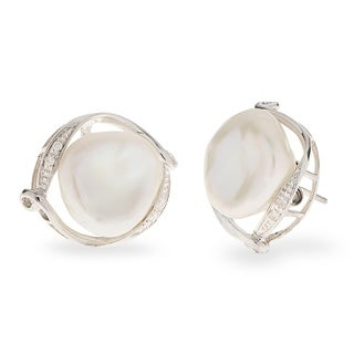 PearLustre by Imperial SS Baroque FW Pearl and Diamond Earrings (I, I2)