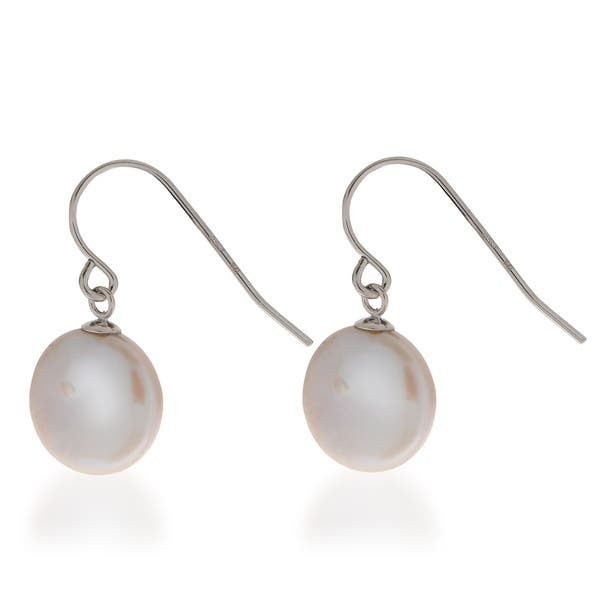 Pearre By Imperial Ss White Fw Coin Pearl Earrings