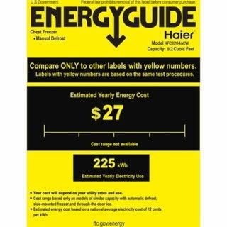 Haier HFC1504ACW 60 1/2 Inch Chest Freezer