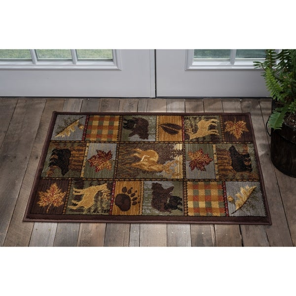 Alise Natural Novelty Lodge Scatter - 2' x 3'
