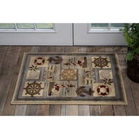 Alise Natural Novelty Nautical Scatter (2' x 3')