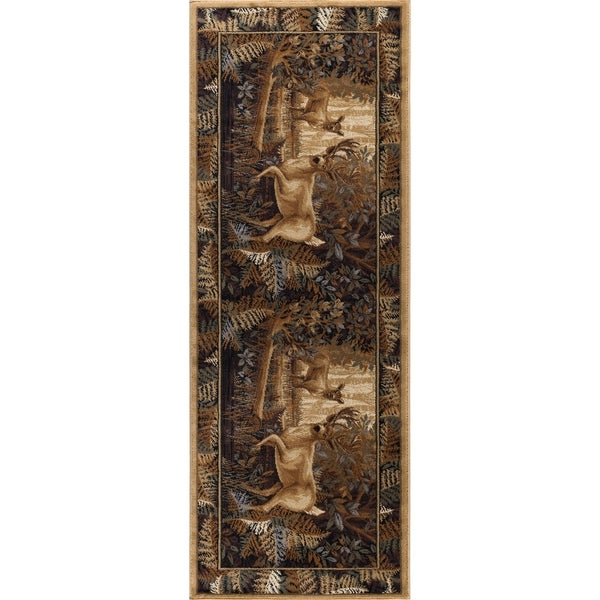 Shop Alise Rugs Natural Lodge Novelty Lodge Runner Rug