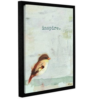 Ninalee Irani's 'Inspire' Gallery Wrapped Floater-framed Canvas