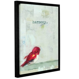 Ninalee Irani's 'Harmony' Gallery Wrapped Floater-framed Canvas