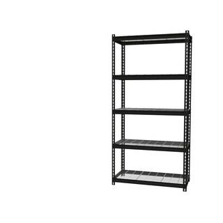 "Iron Horse Wire Shelving Unit, 5 Shelf, 18"" X 36"" X 72"" , Black"