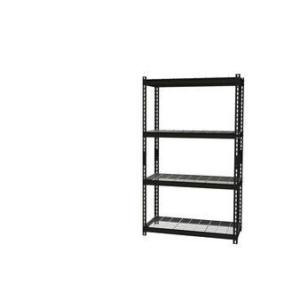 "Iron Horse Wire Shelving Unit, 4 Shelf, 18"" X 36"" X 60"" , Black"