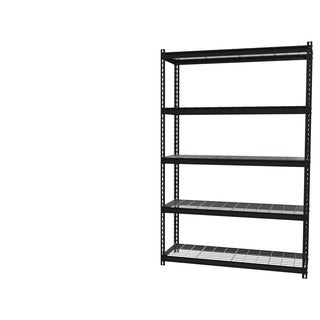 "Iron Horse Wire Shelving Unit, 5 Shelf, 18""D X 48""W X 72""H, Black"