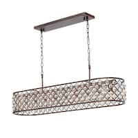 Cassiel Oil-rubbed Bronze Wrought Iron/Crystal Chandelier