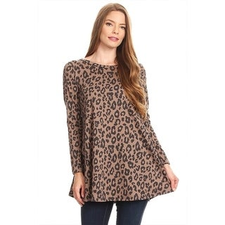 Women's Animal Leopard Pattern Tunic