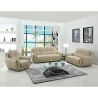 Sampson Leather Air/Match 3-Piece Living Room Sofa Set