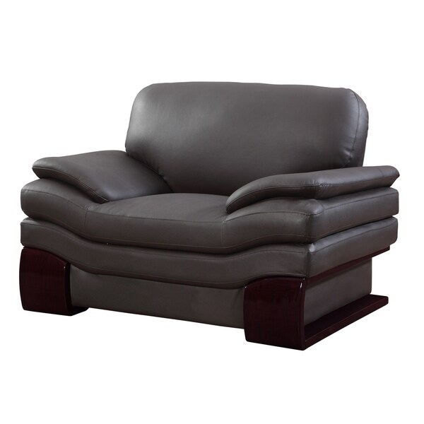 Shop Ellington Leather Match Upholstered 2 Piece Living