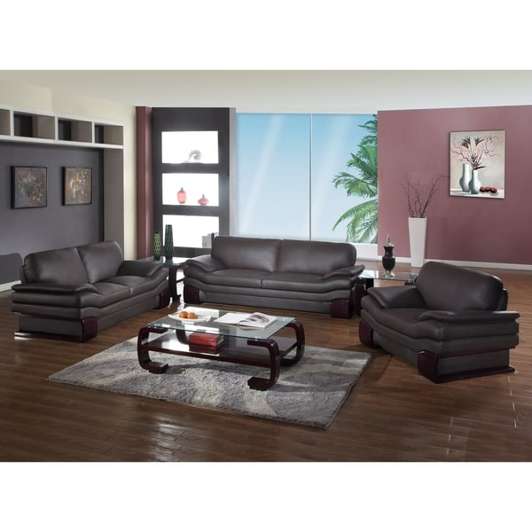 Shop gu furniture leather match upholstered 3 piece living - Upholstered living room chairs sale ...
