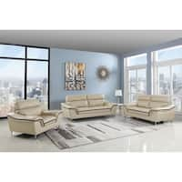 Doyle Leather Air/Match Upholstery 3-Piece Living Room Sofa Set