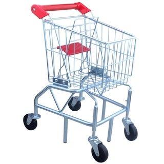 Steel Core Kids Shopping Cart - Silver