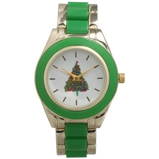 Olivia Pratt Two-Tone Holiday Bracelet Watch