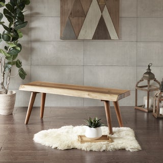 Ink+Ivy Arcadia Natural Wooden Dining Bench