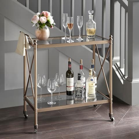 "Madison Park Signature Swift Bar Cart 2-Color Option - 32""W x 16.25""D x 33.25""H"