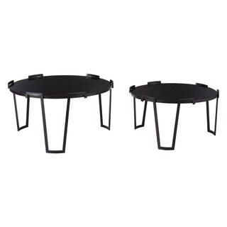 Carbon Loft Sharma Black Nesting Coffee Table (Set of 2)