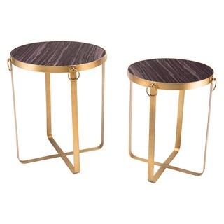 Onix Set Of 2 Tables Purple & Antique Go