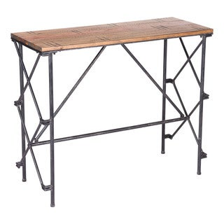 Esquil Brown Wood/Steel Console Table